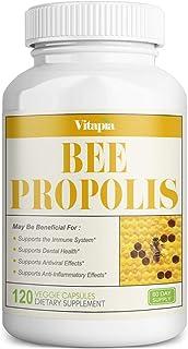 Vitapia Bee Propolis 1000mg - 120 Veggie Capsules - Non-GMO - Supports Immune System and Dental Health, Anti-inflammatory