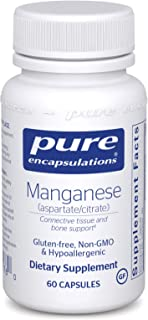 Pure Encapsulations - Manganese (Aspartate/Citrate) - Hypoallergenic Trace Mineral Supplement for Connective Tissue and Bo...