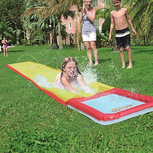Césped Diapositivas de agua, jinete de la onda de desplazamiento y deslizamiento con el chapoteo de riego for niños de los niños del patio trasero de verano piscina al aire libre Juegos Juguetes de ag