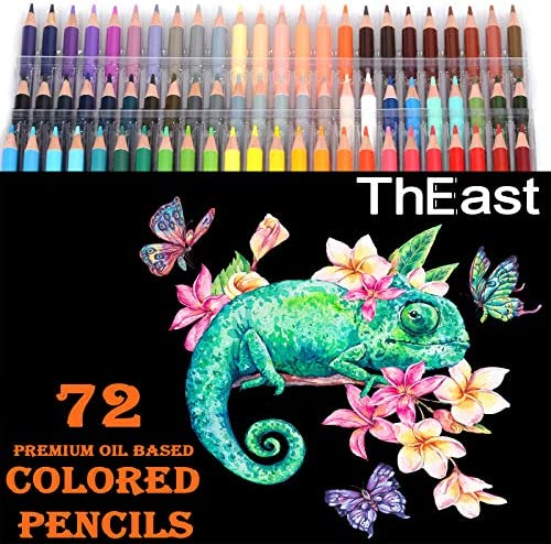ThEast Premier Colored Pencils for Adult Coloring Book Premium Artist Colored Pencil Artist product image
