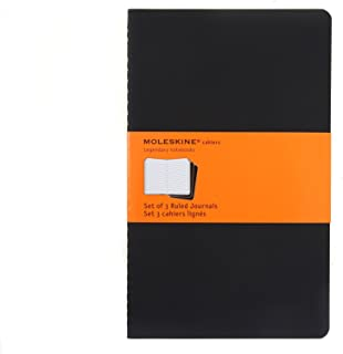 Moleskine Cahier Black Set of 3 Ruled (Cahier-Black; Ruled)