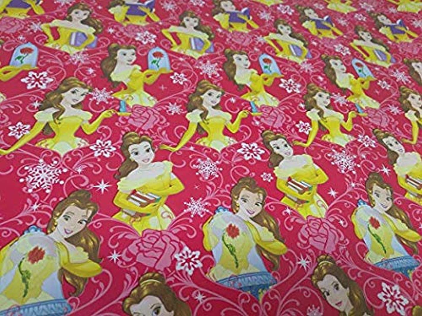 Paper Christmas Wrapping (Bonus Jiggy Themed Writing Tool) Greetings 1 Roll Design Festive Princess Belle Beauty
