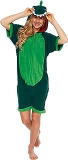Dinosaur Short Sleeve Animal Pajamas - Plush Adult One Piece Summer Cosplay Costume