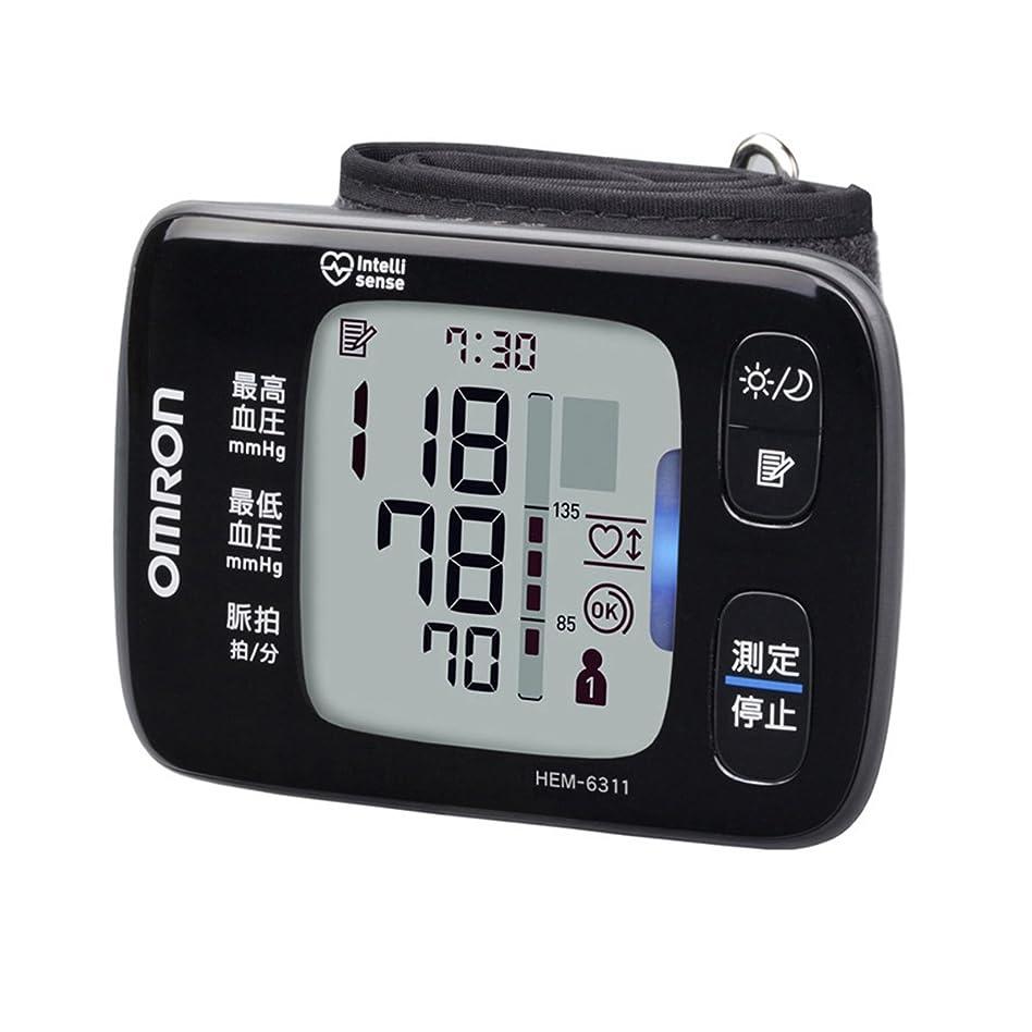 すすり泣き写真を撮る読み書きのできないオムロンヘルスケア 手首式血圧計 HEM-6311
