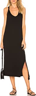 Womens Sleeveless Side Split Long Dress Casual Tank T-Shirt Midi Dresses