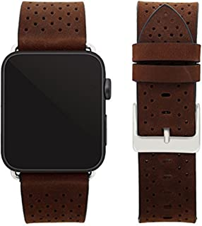 Replacement Bands Compatible for Apple Watch 42mm, 44mm, Series 4/3/2/1, MyHarem Genuine Single Tour Leather Strap Bracele...
