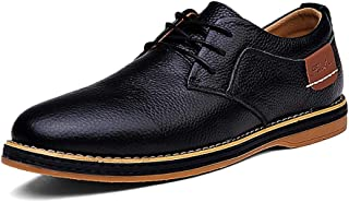 Sygjal Men's Fashion Oxford Casual Low Top Solid Color Simple Velvet Fleece Lined Semi Formal Shoes Black (Color : Blue, Size : 39 EU)
