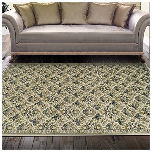Superior Madeleine Collection Area Rug, 8mm Pile Height with Jute Backing, Beautiful Delicate Floral Pattern, Fashionable and Affordable Woven Rugs - 8' x 10' Rug