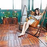 Outdoor Wood Parkette Anti-ätzende Holzböden Balkon,Terrasse,Garten,Badezimmer Mosaik Stock