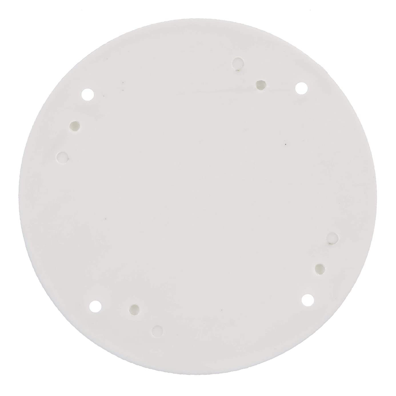 SEACHOICE 39601 Mounted Boat Plate Cover, Arctic White Finish, up to 4 Inches