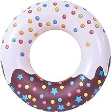 Donut Zwembad Floats Mooie Print Zwemring Zomer Fun Donut Pool Floats Opblaasbaar Zwembad Zwembad Zwemmen Tubes voor Zwemb...