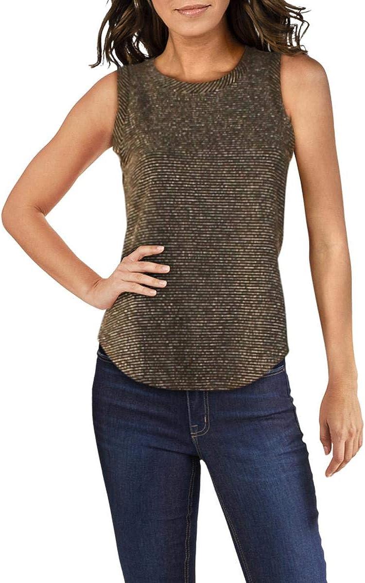 CHASER Womens Knit Metallic Tank Top