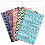 Field Notebook/Journal - 5'x8' - Ikat Patterns - Lined Memo Book - Pack of 5