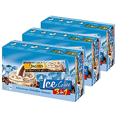 Jacobs 3in1 Ice Coffee Instant coffee, 3-pack, 3 x 10 cup servings