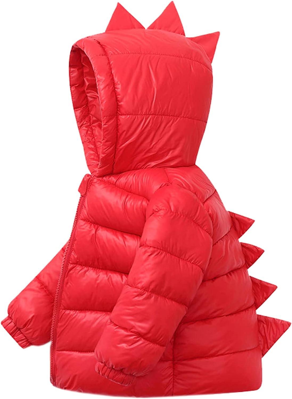 SANGTREE Boys Girls Cute Hooded Down Jacket, 18 Months - 7 Years