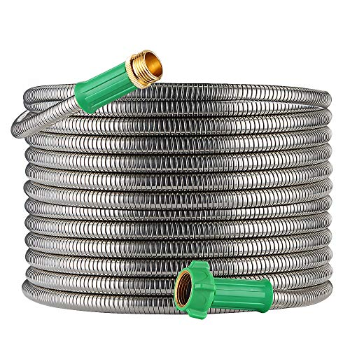 BEAULIFE Metal Expandable Garden Hose 50 Ft Lightweight & Heavy Duty Pocket Hose Flexible...