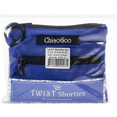 ChiaoGoo Twist Shorties (3,5-5mm) Embouts interchangeables (S) pour aiguilles à tricoter