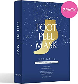 WonderFoot Exfoliating Foot Peel Mask - For Smooth Feet, Dry Dead Skin Treatment w/ Lactic Acid & Milk (PH3.6) - Moisturiz...
