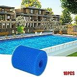 ROUNYY Filterzubehör,Wasserpumpenzubehör,Filterschaum, Filtermatte,Filterschwamm, Ideales Poolfilter (10X)