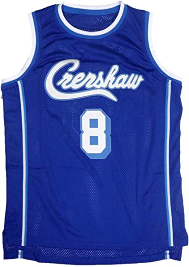 UCK Men's Bryant #8 Crenshaw Basketball Jerseys Blue High School Sport Jersey Stitched Letters and Number