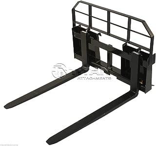 "48"" Pallet Fork Attachment, Landscape Forks, Universal Skid Steer, Quick Attach"