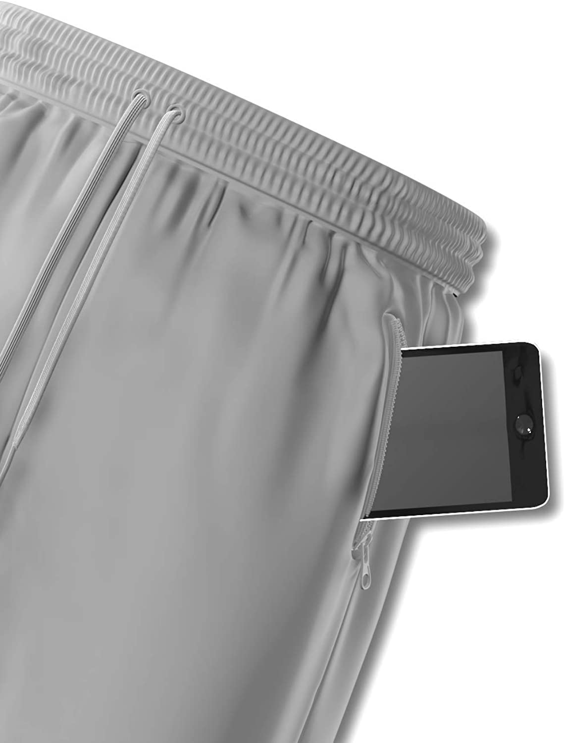 """Comfort 360/° Men/'s Premium Athletic Running Basketball Workout 9/"""" Gym Shorts with Zipper Pockets"""