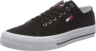 Tommy Jeans Herren Long LACE UP Vulc Sneaker, Schwarz, 45 EU