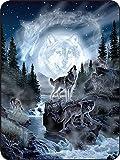 Regal Comfort Moon Wolf Throw Blanket 45' x 60'