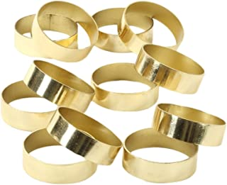 Koyal Wholesale Napkin Ring Metal Bands, Gold, Bulk Set of 12, for Paper Napkin, Cloth Napkin, Wedding Reception, Christmas Party, Thanksgiving Dinner, Restaurant Every Day Use