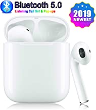 Bluetooth 5.0 Wireless Earbuds Headsets Bluetooth Headphones 3D Stereo IPX5 Waterproof Pop-ups Auto Pairing Fast Charging for Apple of airpods and Airpod Sports Earphone Samsung Wireless Earbuds (1)