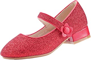 EKM7010 Mary Jane Tacon bajo Zapatos Vestir Fiesta de Formal Princesa Zapatos para Niñas Primavera Verano Zapatos COMUNIÓN Zapatos
