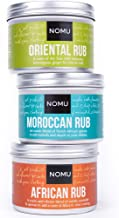 NOMU Rub Afri Asia Trio Set - African, Oriental & Moroccan Seasonings (3-pack) - Premium Blends of Herbs & Spices - No MSG or Preservatives