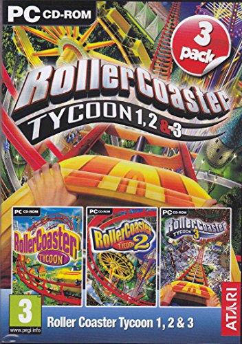 Rollercoaster Tycoon 1, 2 & 3 (PC DVD) [Edizione: Regno Unito]