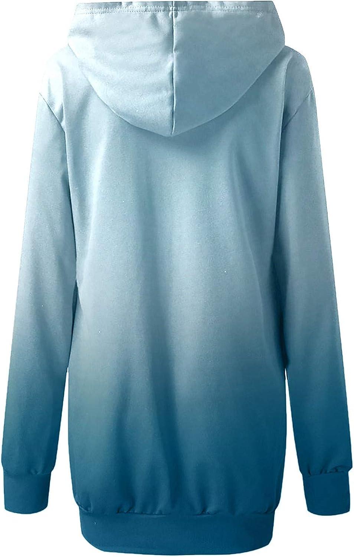 Winter Dresses for Women Women Cute Graphic Tunic Sweatshirt Top Long Sleeve Mini Dress Pullover Hooded Dress