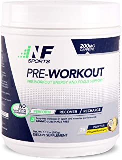 NF Sports Pre-Workout - Supports Energy, Cognitive Function, Strength, and Muscular Endurance to Optimize Workouts - Cocon...