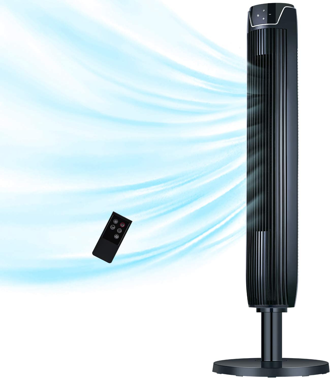 Tower Fan San Francisco Mall with Remote 42 Inch Port Max 49% OFF Oscillating Powerful Quiet