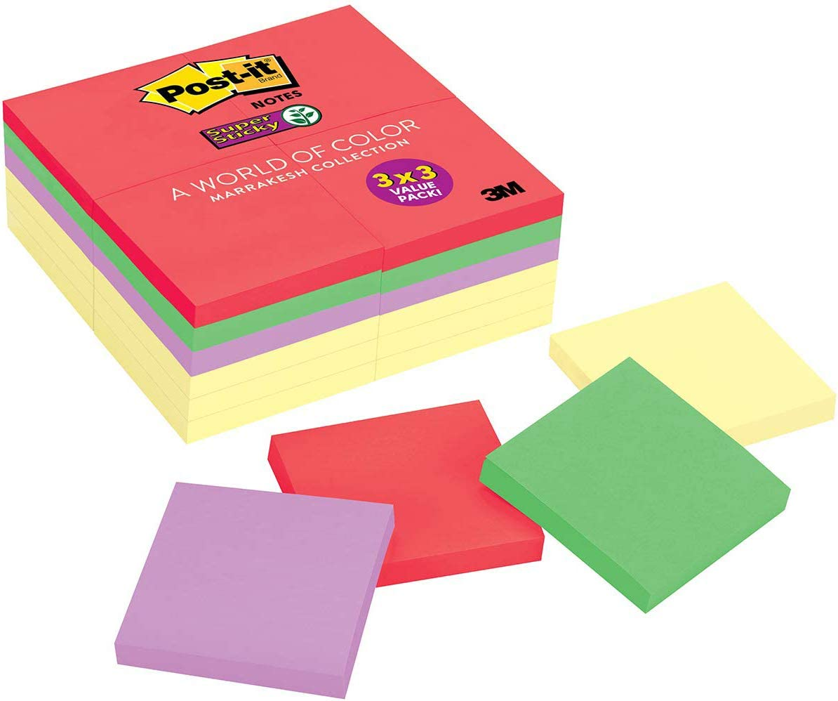 "It Super Sticky Notes 3X3 3"" 654-4SSY-EV Lot 3M Post 3600 10 Packs Of 360"