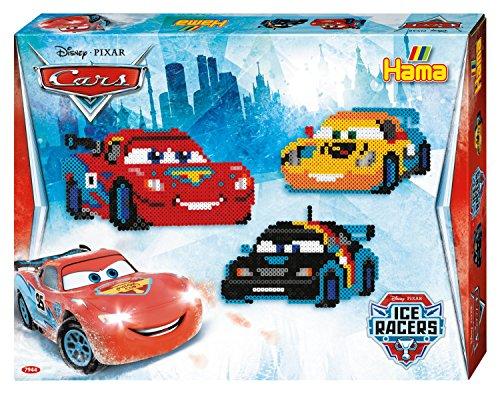 Hama 7944 - Original Perlas - Caja de regalo Disney Cars, acerca de 4000 perlas, 2 Placas pin y accesorios