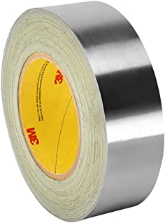 3M 420 Dark Silver Lead Foil Tape  - 6 in. x 15 ft. Roll, Conformable Tape, Rubber Adhesive, Linered. Electrically and Thermally Conductive Tape [1 Roll]