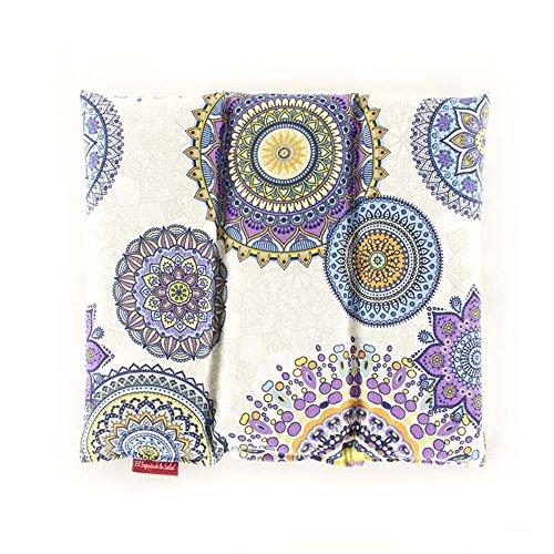 Fußsack von Saatgut Aroma Lavendel, Orangenblüte oder Romero Gewebe Mandalas Lilas 28 x 26 x 2 cm