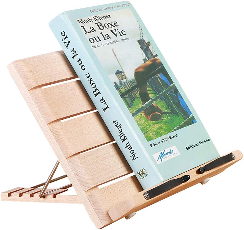 JULAN Wooden Book Stand Kids Looking at Bookshelf Reading Stand Multi-Function Reading Frame