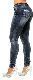 Poetic Justice Womens Curvy Fit Black Stretch Denim Blasted Midrise Skinny Jeans
