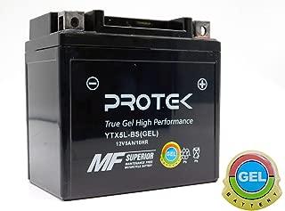 Protek YTX5L-BS YT5L-BS YTZ7S 12V 5Ah Sealed AGM Gel Type Battery Maintenance Free For 2007-2013 Yamaha XF50W, 2002-2017 Yamaha YW50A Zuma 50, 2006-2018 Honda TRX90X EX, 2007-2017 Kawasaki KFX90 50