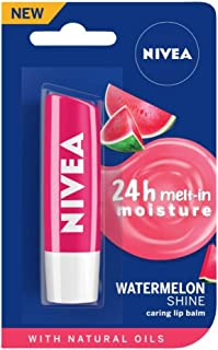 NIVEA Lip Balm, Fruity Watermelon Shine, 4.8g