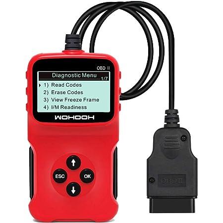 Vivioo Universal Obd2 Scanner Motorfehlerleser Auto Diagnosegerät Mit Lcd Display Plug And Play Codeleser Motorlast Standbilddaten I M Bereitschaftsstatus 5 Sprachen Unterstützung Auto