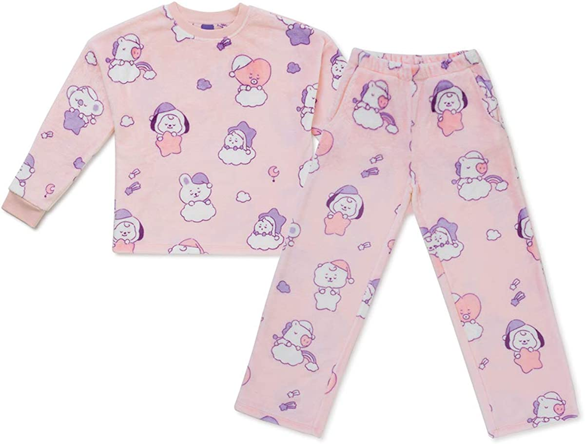 BT21 Baby Collection Soft Fleece Pajama Set Loungewear Sleepwear for Women and Girls