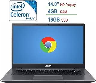 2018 Newest Acer 14-inch HD Chromebook LED Anti-glare Display, Intel Dual-Core Celeron 3855u 1.6GHz processor, 4GB RAM, 16GB SSD, HDMI, USB 3.0, Webcam, 802.11a Wifi, Bluetooth, Google Chrome OS