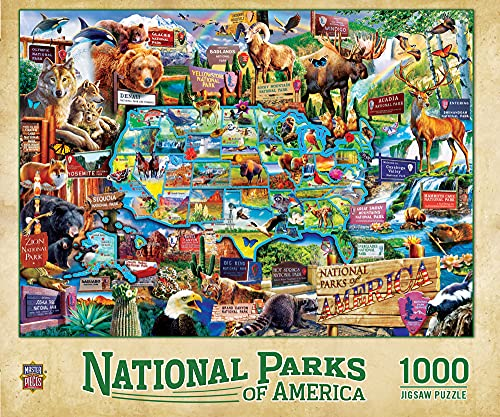 MasterPieces 1000 Piece Jigsaw Puzzle for Adult, Family, Or Kids - National Parks 19.25