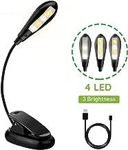 Luz de Lectura para Libro, Flexo de Pinza Recargable LED Lámpara ...