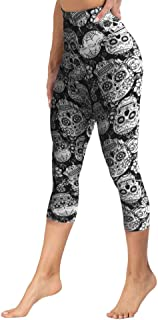 High Waisted Capri Leggings for Women Tummy Control Soft Opaque Slim Tights for Cycling, Running, Daily